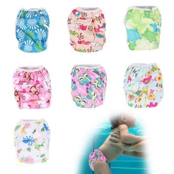 Baby Swimwear Pattern Reusable Cloth Diapers Diapers Training Pants Unisex