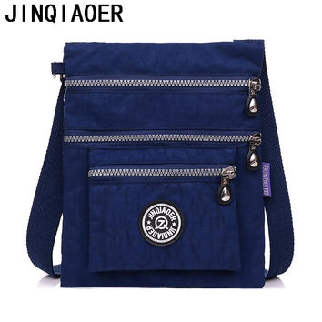 Jinqiaoer Solid Nylon Handbags Women Bolsas 2016