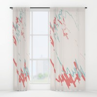 Pastel Creme Window Curtains by spaceandlines
