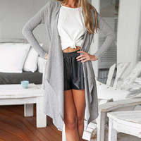 FASHION LAPEL LONG-SLEEVED CARDIGAN