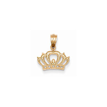 14k Rose Gold Crown Pendant, Best Quality Free Gift Box Satisfaction Guaranteed