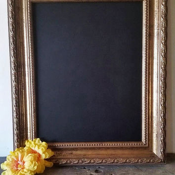 Ornate Chalkboard Baroque Framed Chalkboard Antique Gold Wall Decor 11x14