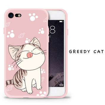 Cartoon Style Silicone Case For iPhone