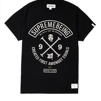 Supremebeing T Shirt with Colours Print