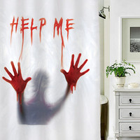 Dexter Psycho Halloween Decoration special custom shower curtains that will make your bathroom adorable