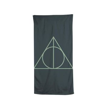 Harry Potter The Deathly Hallows Silver Doe Art Beach Bath Towel