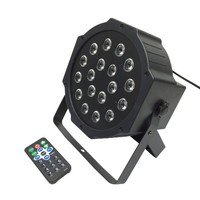 Laluce 18LED Par Lights for Stage Lighting with RGB Magic Effect by Remote Control and DMX512