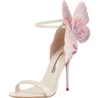 Sophia Webster Chiara Embroidered Butterfly Sandal