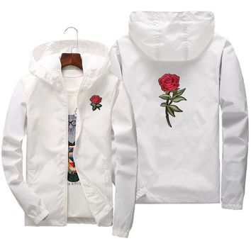 Dropshipping Suppliers Usa 2018 Spring Summer Rose Jacket For Men and Women Coat US Size XS-XXXL