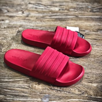 Adidas Benassi Swoosh Sandals Style #9 Red Slippers - Best Online Sale