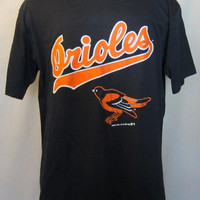 Vintage Amazing 1989 BALTIMORE ORIOLES BASEBALL Playoffs Rad Graphic Large 50/50 New With Tags T-Shirt