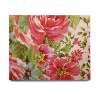 "Heidi Jennings ""Walk Through The Garden"" Pink Flowers Birchwood Wall Art"