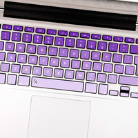 Purple Ombre Decal Keyboard Sticker for Macbook Mac Lenovo Asus Sony Dell HP Acer Samsung Toshiba Colorful pink pinky