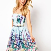 Coast Botanica Printed Bandeau Dress at asos.com