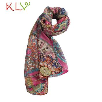 Stylish 2017 Summer Print Scarf Oversized Chiffon Scarf Women Wrap Sarong Sunscreen Pareo Beach Cover Up Long Cape Female JN15