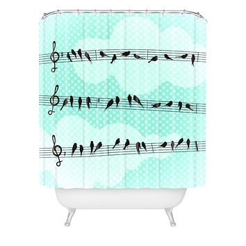 Belle13 Musical Nature Shower Curtain