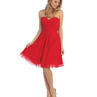 Ruby Strapless Pleated Bodice Corset Dress 2015 Homecoming Dresses