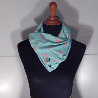Infinity Scarf, Small cute does, blue infinity scarf, scarves and wraps, Summer scarves, accessories, deer scarf, light blue accessories