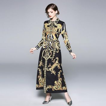 Elegant Print Designer Dress (Mid or Long)