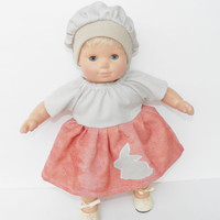 Clothes Peach Bunny Dress & Hat 2 pc outfit Handmade for Bitty Baby Girl Doll 15