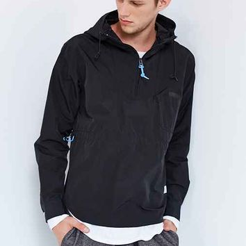 Penfield Ottery Half-Zip Hooded Jacket- Black