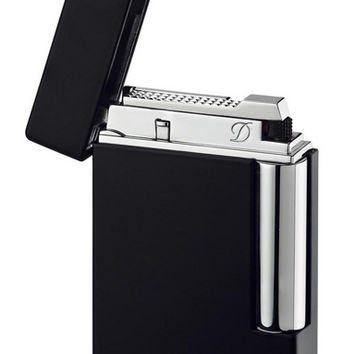 S.T. Dupont Ligne 8 Black Lacquer Traditional Flame Lighter