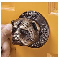 SheilaShrubs.com: Bulldog Authentic Foundry Iron Door Knocker SP28007 by Design Toscano: Door Knockers