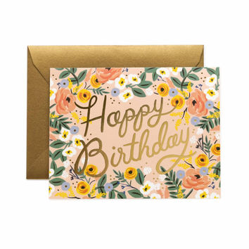 RIFLE PAPER ROSÉ BIRTHDAY CARD