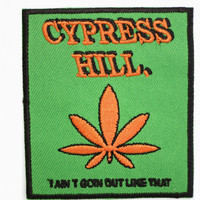"""CYPRESS HILL Out Like That Iron On Embroidered Patch 3""""/7.5cm"""