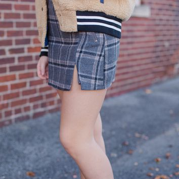 On Edge Skirt, Plaid