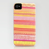 Tribal#1 (Orange/Pink/Yellow) iPhone Case by Haleyivers | Society6
