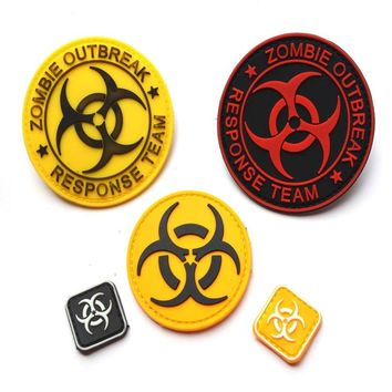 Resident evil series PVC armbands  patch chapter Disposable bags clothing personality military patches badges 8CM