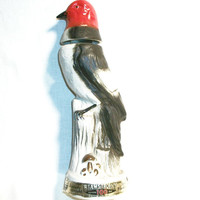 Whiskey Decanter James Jim Beam Liquor Regal China Bottle Red White Brown Bird Bar Ware Man Cave Lodge Cabin Home Decor