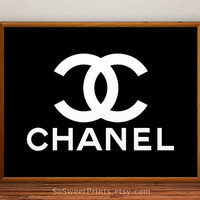 Chanel art, Chanel Poster, Chanel Print, Coco Chanel, Chanel decor, Chanel art poster, wall, 8x10, 11x14, 13x19, 16x20, 17x22