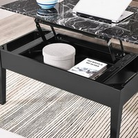 Faux Marble Lift Top Coffee Table - Walmart.com
