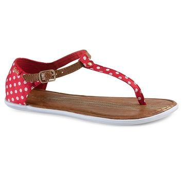 Keds Tealight Women's Polka-Dot T-Strap Thong Sandals