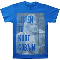 Nirvana Men's  Kurt Cobain Listen To Kurt T-shirt Royal