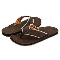 Reef Men's Surf and Saddle Brown Leather Sandals Size 7 US Flip Flops Beach
