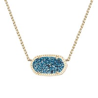Elisa Pendant Necklace in Blue Drusy - Kendra Scott Jewelry