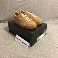 ONETOW Puma Suede Creepers Fenty By Rihannna UK 4 6 Gum Tan Brown Authentic Creeper