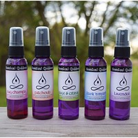 MEDITATION MISTS Set of 5 - Lavender, Frank 'n Myrrh, Nag Champa, Patchouli, Sage & Citrus