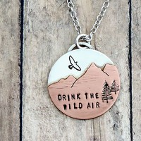 Drink the Wild Air Mixed Metal Necklace