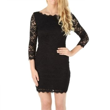 Jump Apparel Juniors Eyelash Lace Body-Con Dress at Von Maur