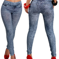 2016 Sexy New Women Jean Skinny Jeggings Stretchy Slim Leggings Skinny Pants Trousers Free Shipping G257-Q