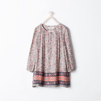 Loose fit printed dress