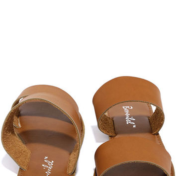 Time to Chill Tan Slide Sandals