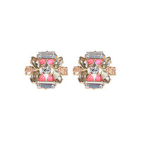 River Island Womens Purple gem stud earrings