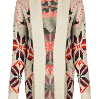 Yasmina Shawl Collar Fairisle Cardigan