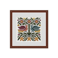 Primitive cross stitch patterns, Counted cross stitch, Primitive flowers, Cross stitch flowers, Cross stitch PDF, Subversive cross stitch