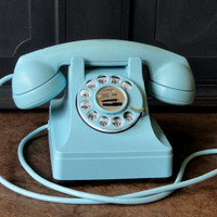 "Vintage Telephone, ""Lucy"" Style, Robin's Egg Bl..."
